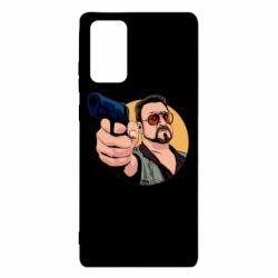 Чохол для Samsung Note 20 Лебовськи з пістолетом