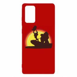 Чехол для Samsung Note 20 Lion king silhouette