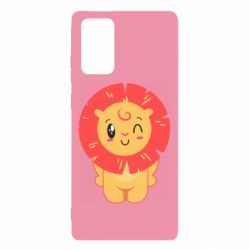Чехол для Samsung Note 20 Lion with orange mane