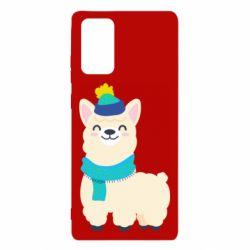Чехол для Samsung Note 20 Llama in a blue hat