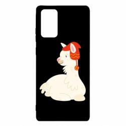 Чехол для Samsung Note 20 Llama in a red hat