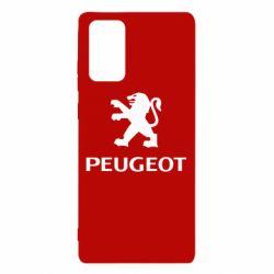 Чехол для Samsung Note 20 Логотип Peugeot