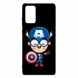 Чехол для Samsung Note 20 Маленький Капитан Америка