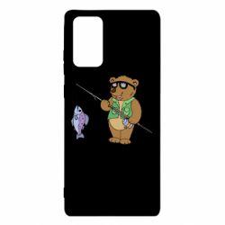 Чохол для Samsung Note 20 Ведмідь ловить рибу