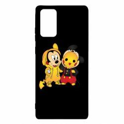 Чехол для Samsung Note 20 Mickey and Pikachu
