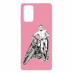 Чехол для Samsung Note 20 Mickey Rourke and the motorcycle