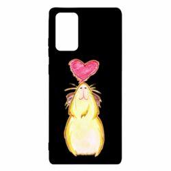 Чохол для Samsung Note 20 Морська свинка і сердечко