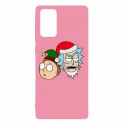 Чехол для Samsung Note 20 New Year's Rick and Morty