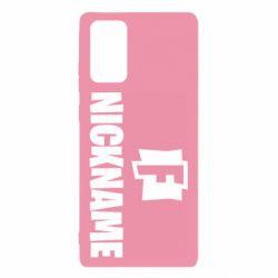 Чехол для Samsung Note 20 Nickname fortnite