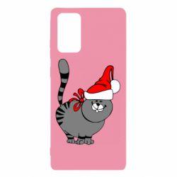 Чохол для Samsung Note 20 Новорічний коте
