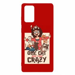 Чехол для Samsung Note 20 One cat away from crazy
