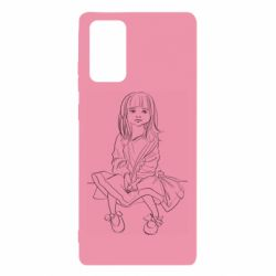 Чехол для Samsung Note 20 Outline drawing of a little girl