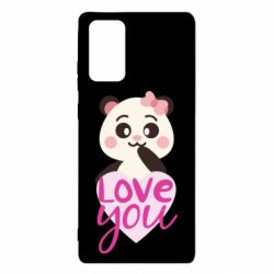 Чехол для Samsung Note 20 Panda and love