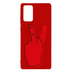 Чехол для Samsung Note 20 Peace and middle finger