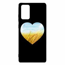 Чохол для Samsung Note 20 Пейзаж України в серце