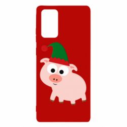 Чохол для Samsung Note 20 Pig in a New Year's cap