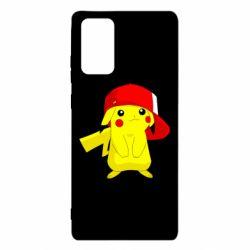 Чехол для Samsung Note 20 Pikachu in a cap