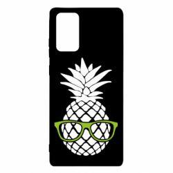 Чехол для Samsung Note 20 Pineapple with glasses