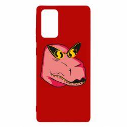 Чохол для Samsung Note 20 Pink dinosaur with glasses head