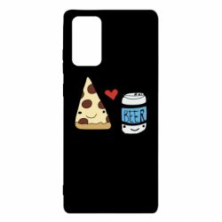 Чохол для Samsung Note 20 Pizza and beer