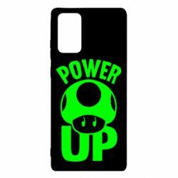 Чехол для Samsung Note 20 Power Up гриб Марио