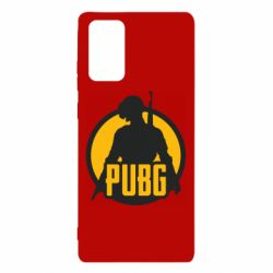 Чехол для Samsung Note 20 PUBG logo and game hero