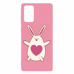 Чехол для Samsung Note 20 Rabbit with a pink heart