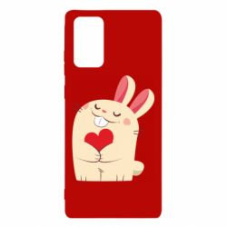 Чехол для Samsung Note 20 Rabbit with heart