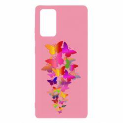 Чохол для Samsung Note 20 Rainbow butterflies