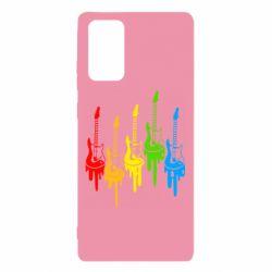 Чехол для Samsung Note 20 Разноцветные гитары