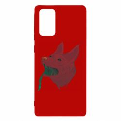Чехол для Samsung Note 20 Red zombie dog