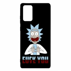 Чохол для Samsung Note 20 Rick and Morty fack and love you