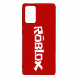 Чехол для Samsung Note 20 Roblox logo
