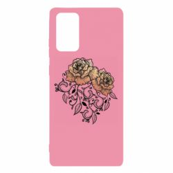 Чохол для Samsung Note 20 Roses with patterns