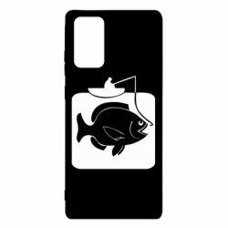 Чехол для Samsung Note 20 Рыба на крючке