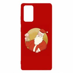 Чехол для Samsung Note 20 Santa with a beer glass