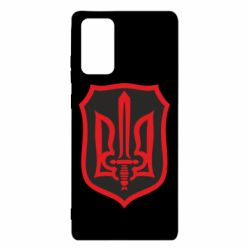 Чехол для Samsung Note 20 Shield with the emblem of Ukraine and the sword