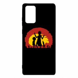 Чохол для Samsung Note 20 Silhouette of Rick and Morty at Sunset