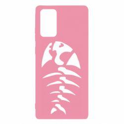 Чехол для Samsung Note 20 скелет рыбки