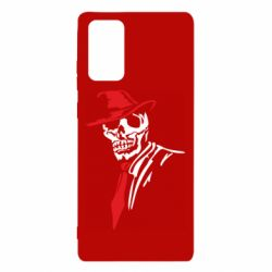 Чехол для Samsung Note 20 Skull in a hat with a tie