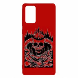 Чехол для Samsung Note 20 Skull with horns in the forest
