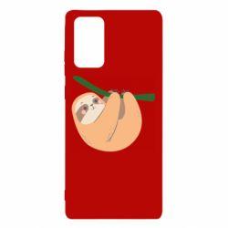 Чехол для Samsung Note 20 Sloth on a branch