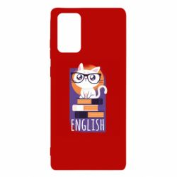 Чехол для Samsung Note 20 Smart cat with glasses