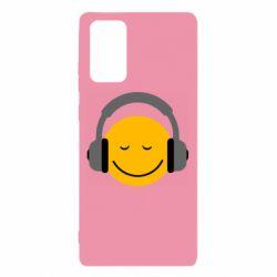 Чехол для Samsung Note 20 Smile in the headphones