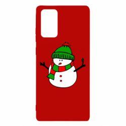 Чехол для Samsung Note 20 Снеговик
