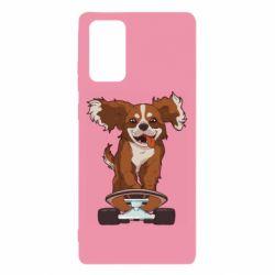 Чехол для Samsung Note 20 Собака Кавалер на Скейте
