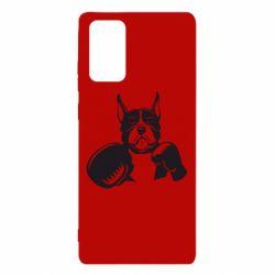 Чохол для Samsung Note 20 Собака в боксерських рукавичках