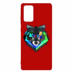 Чехол для Samsung Note 20 Сolorful wolf