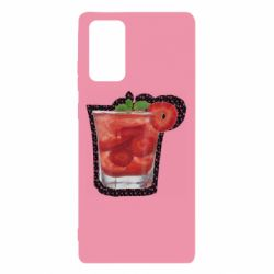 Чохол для Samsung Note 20 Strawberry cocktail on a background of flowers
