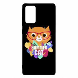 Чехол для Samsung Note 20 Summer cat